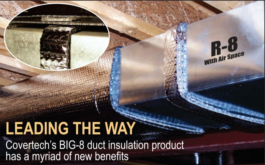 Installing 2290 Standard Duct Insulation.